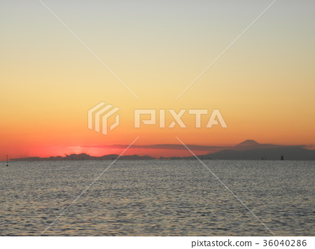 sunset, sundown, red 36040286