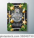christmas, party, vector 36040730