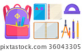 Rucksack Fashionable Model and School Accessory 36043305