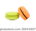 macaroons or macaron on white background, Dessert 36043607