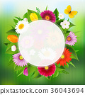 Summer Poster With Flowers 36043694