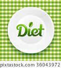 plate, dieting, tableware 36043972