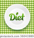 plate, dieting, tableware 36043989