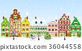 城镇 街道 圣诞节 36044558