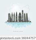 City financial center,vector Illustration 36044757
