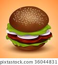 汉堡 速食 矢量 36044831