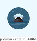 船 向量 向量圖 36044866