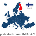 llustration of a map of Europe with Finland 36046471