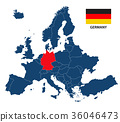 Illustration of a map of Europe with Germany 36046473