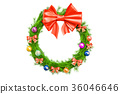 Christmas Holiday Wreath, 3D rendering 36046646