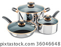 Cooking stainless pot, frypan and pan 36046648