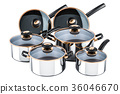 Set of cooking stainless steel kitchen utensils 36046670