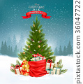 Christmas holiday background with a tree  36047722