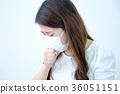 咳嗽的女人 36051151
