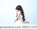 기침을하는 여성 36051154