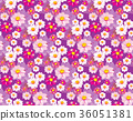 seamless pattern with hibiscus syriacus flowers.  36051381