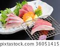 grill, roasted, sashimi 36051415