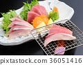 grill, roasted, sashimi 36051416