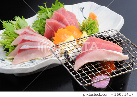 grill, roasted, sashimi 36051417