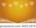 聖誕節圖像背景例證 心臟的金黃裝飾品畫有夜視圖和雪花  Christma 36051870