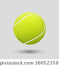 Vector realistic flying tennis ball closeup 36052359