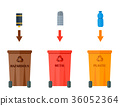 Different recycling garbage waste types sorting 36052364