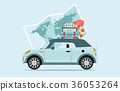 Planning summer vacations Travel by car. 36053264