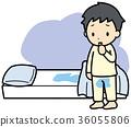 bedwetting, futon, child 36055806