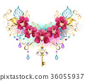 Orchids with beads 36055937