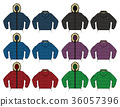 Down jacket illustration set / color variation 36057396