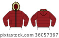 Down jacket illustration (engine red) 36057397