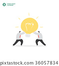 Businessman holding light bulb illustration vector 36057834
