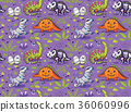 pattern, seamless, dinosaur 36060996