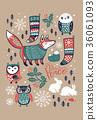 xmas christmas fox 36061093