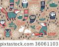 无缝的 圣诞节 圣诞 36061103