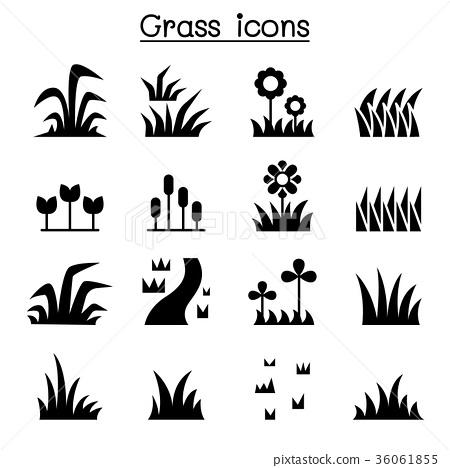Grass icon set 36061855