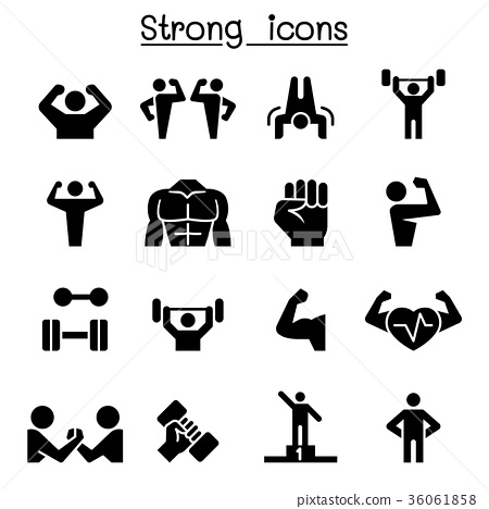 Fitness & Strong icon set 36061858