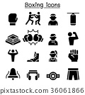 Boxing icon set 36061866