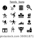 Tennis icon set illustration graphic design 36061871