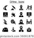Crime & violence icon set 36061878