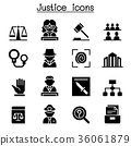Justice , Law, Court, legal icon set 36061879