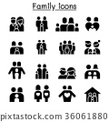 Family & People icon set vector illustration 36061880