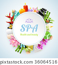 Spa Realistic Round Frame 36064516