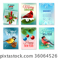 Christmas Winter Cards Set 36064526