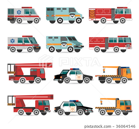 Flat emergency vehicles 36064546