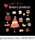 Vector set of different baking  36065847