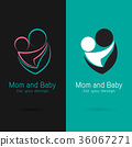 Vector of mom and baby design. 36067271