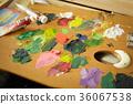 繪畫材料 油畫顏料 調色板 36067538