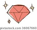 珠宝插画(红色) 36067660