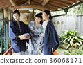 享受溫泉旅行的婦女 36068171